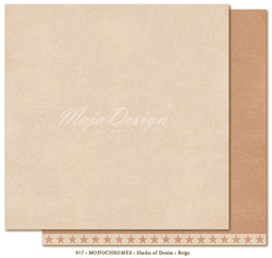 Maja Design Monochromes Shades of Denim skräppipaperi, sävy Beige
