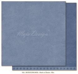 Maja Design Monochromes Shades of Denim skräppipaperi, sävy Blue