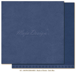 Maja Design Monochromes Shades of Denim skräppipaperi, sävy Dark Blue