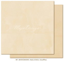 Maja Design Monochromes Shades of Sofiero skräppipaperi, sävy Straw/Wheat