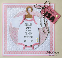 Marianne Design Eline's Baby onesie -stanssisetti