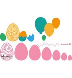 Marianne Design Easter eggs -stanssisetti, pääsiäismunat