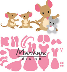 Marianne Design stanssisetti Eline's Mice Family