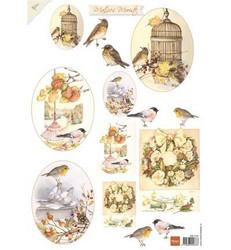 Marianne Designin Mattie's Mooiste korttikuvat Syksyn linnut