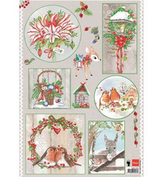Marianne Design Country Christmas -korttikuvat