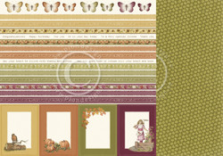Pion Design Summer Falls Into Autumn skräppipaperi Borders