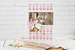 Chipboard kuvioleike, Mr & Mrs love ornament