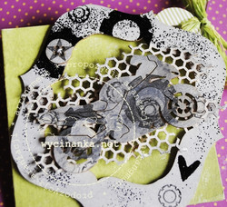 Chipboard kuvioleike, honeycomb small eyelet