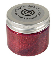 Cosmic Shimmer Sparkle tekstuuripasta, sävy Apple Red