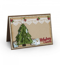 Sizzix Thinlits stanssisetti Christmas Tree Flip & Fold