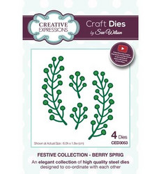 Creative Expressions The Festive Collection stanssisetti Berry Sprig