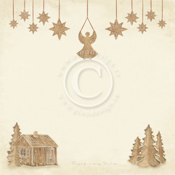 Pion Design Christmas Wishes skräppipaperi Gingerbread land