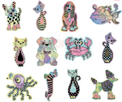 Dyan Reaveley's Dylusions Creative Dyary Die Cuts -leikekuvat, Colored Animals