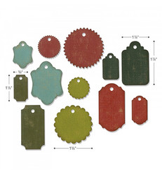 Sizzix Thinlits stanssisetti Gift Tags by Tim Holtz