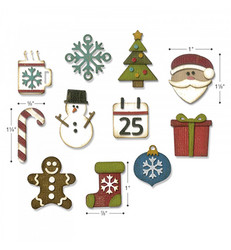 Sizzix Thinlits stanssisetti Mini Christmas Things