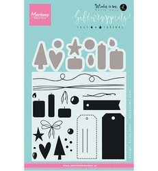 Marianne Design Giftwrapping: Tags & threads -leimasin- ja stanssisetti
