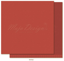 Maja Design Monochromes - Shades of Winterdays skräppipaperi Red