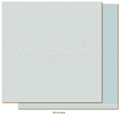 Maja Design Monochromes - Shades of Winterdays skräppipaperi Ice Blue