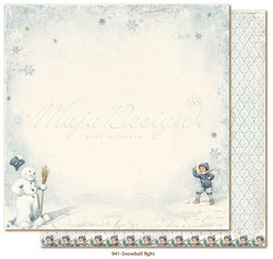 Maja Design Joyous Winterdays skräppipaperi Snowball Fight