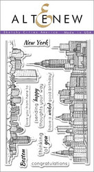 Altenew Sketchy Cities America -leimasinsetti