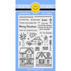 Sunny Studio Stamps leimasinsetti Christmas Home