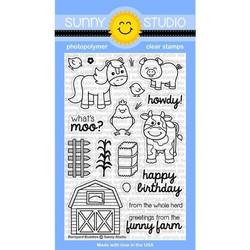 Sunny Studio Stamps leimasinsetti Barnyard Buddies