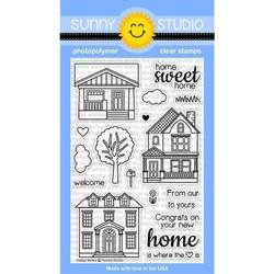 Sunny Studio Stamps leimasinsetti Happy Home