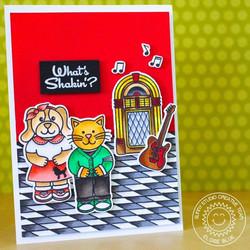 Sunny Studio Stamps leimasinsetti Sock Hop