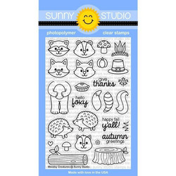 Sunny Studio Stamps leimasinsetti Woodsy Creatures