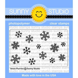 Sunny Studio Stamps leimasin Snow Flurries