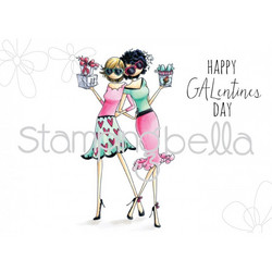 Stamping Bella uptown girl leimasin Gwyneth & Gloria Celebrate Galentines