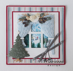 Marianne Design Tiny's winter Landscape 2 -korttikuvat