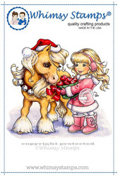 Whimsy Stamps Christmas Pony -leimasin