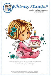 Whimsy Stamps Birthday Baby Girl -leimasin