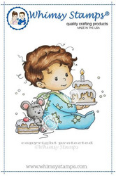 Whimsy Stamps Birthday Baby Boy -leimasin