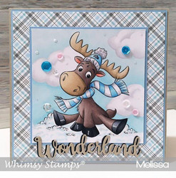 Whimsy Stamps Merry Moose-mas -leimasin