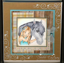 Whimsy Stamps Best of Friends - Girl -leimasin