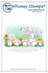 Whimsy Stamps Think Spring Bunnies -leimasin