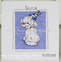 Whimsy Stamps Doggie's Little Behind -leimasin