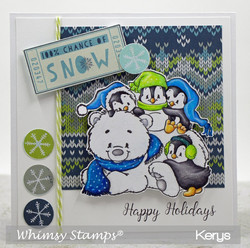 Whimsy Stamps Penguin Polar Express -leimasin