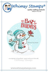 Whimsy Stamps Best Friends Snowman -leimasin
