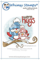 Whimsy Stamps Warm Hugs Birds -leimasin