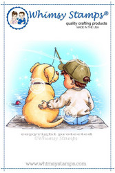 Whimsy Stamps Fishin' Friends -leimasin