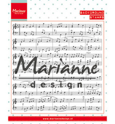 Marianne Design taustaleimasin Music Notes