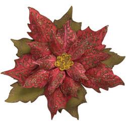Sizzix Bigz stanssi Layered Tattered Poinsettia + kohokuviointikansio