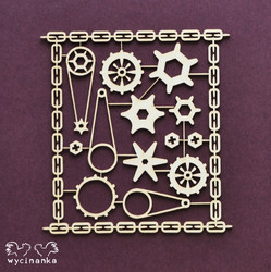 Chipboard kuvioleike, Cogs in the Sheet