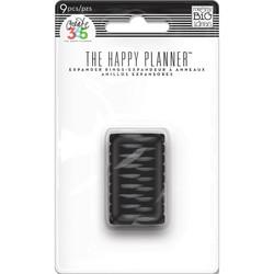 Mambi Happy Planner renkaat. Black. 0.75