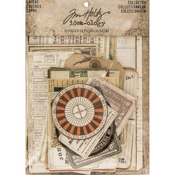 Tim Holtz Idea-Ology Layers Die-Cut, Collector, 33 kpl