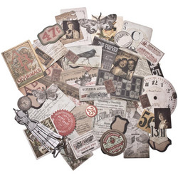 Tim Holtz Idea-Ology Ephemera Pack -korttikuvat, 54 kpl