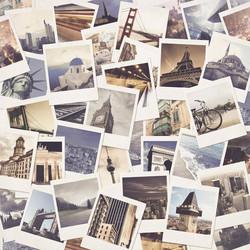 Kaisercraft Just Landed skräppipaperi Polaroids